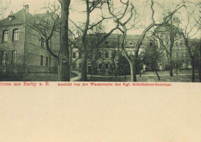 AK_Barby-Gruss-aus-Ansicht-von-der-Wasserseite-des-königlichen-Schullehrer-Seminars