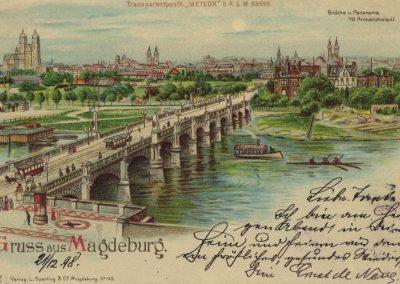 AK_Magdeburg-Gruss-aus-Brücke-und-Panorama-von-der-Friedrichstadt