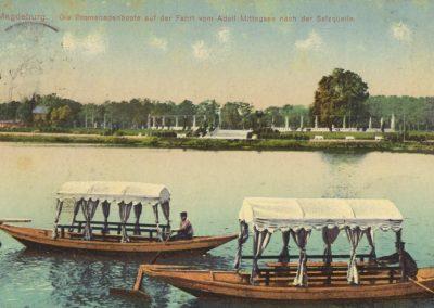 AK_Magdeburg-Promenadenboote-auf-Fahrt-vom-Mittagsee-nach-der-Salzquelle