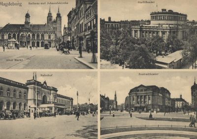 AK_Magdeburg-Rathaus-und-Johanniskirche-Stadttheater-Bahnhof-Zentraltheater
