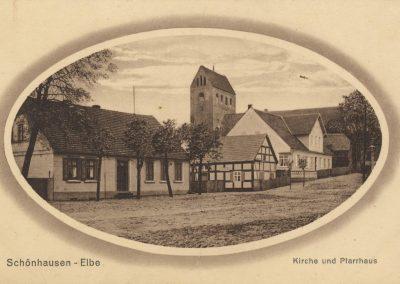 AK_Schönhausen-Kirche-und-Pfarrhaus