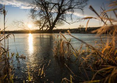 Elbe-Sonnenuntergang