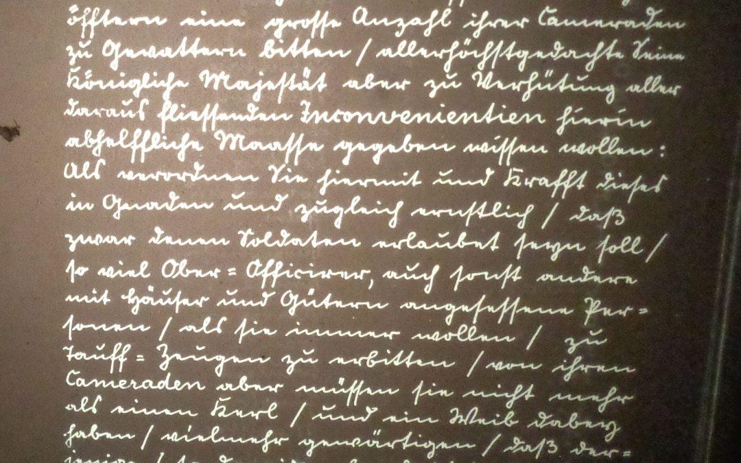 Verordnung Friedrich Wilhelm I. vom 11. November 1713