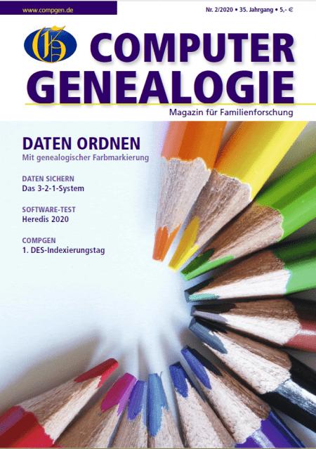 Computergenealogie Heft 2/2020