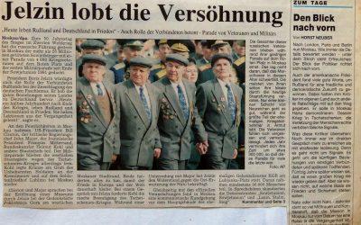 Jelzin lobt die Versöhnung