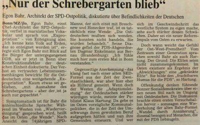 """""""Nur der Schrebergarten blieb"""""""
