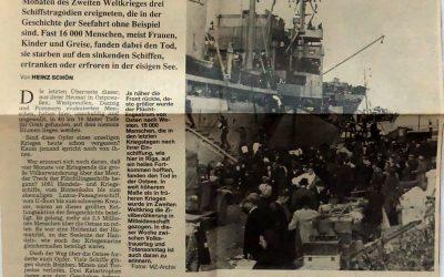 Die Totenschiffe auf dem eisigen Grund der Ostsee