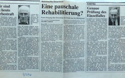 Wehrmachts-Deserteure – Eine pauschale Rehabilitierung?