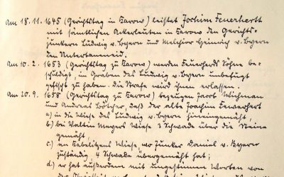 3 Taler Strafe für Frevel und ungestüme Worte 1658 in Karow